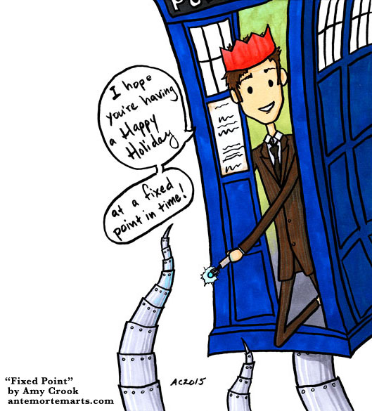 Fixed Point, a Doctor Who parody comic by Amy Crook