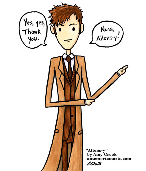 Allons-y, a Doctor Who comic by Amy Crook