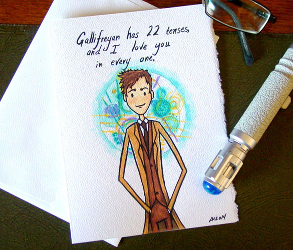 Timeless Love, a Doctor Who Valentine by Amy Crook on Etsy