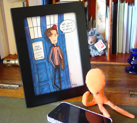 Eleven's 1100, framed art by Amy Crook
