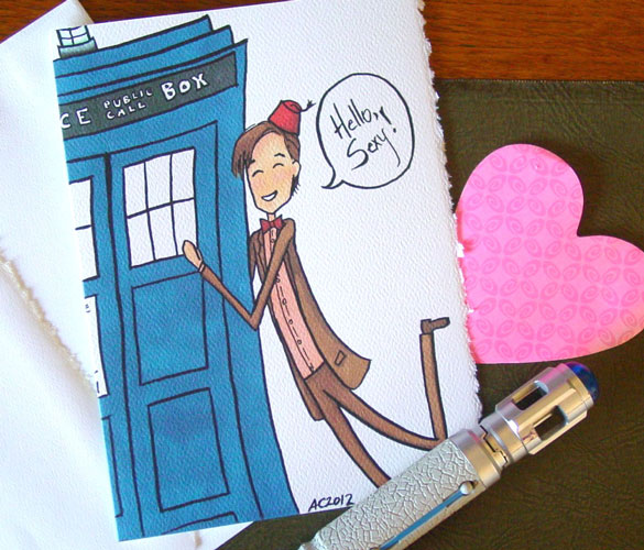 Hello, Sexy! Doctor Who Valentine by Amy Crook