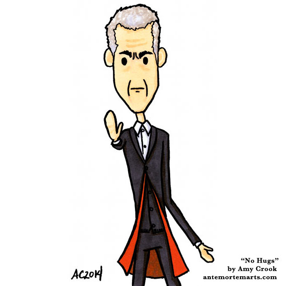 No Hugs, Doctor Who parody art by Amy Crook