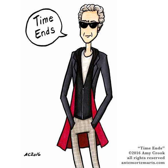 Time Ends, Doctor Who parody art by Amy Crook