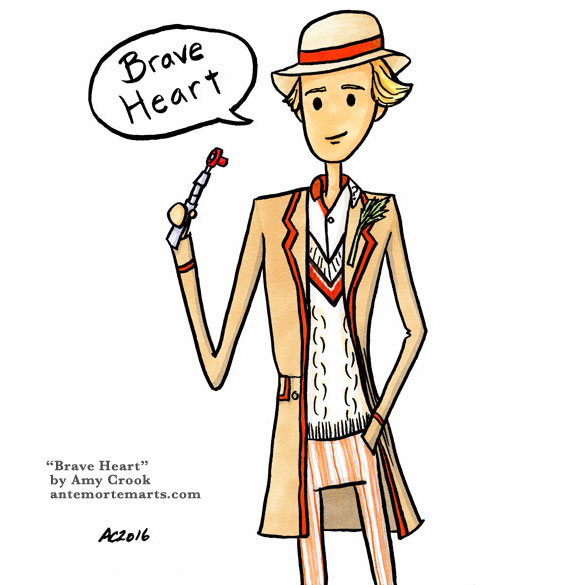Brave Heart, parody Doctor Who art by Amy Crook