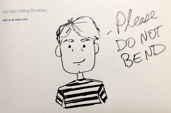 Do Not Bend says Dr. Watson! sketch by Amy Crook