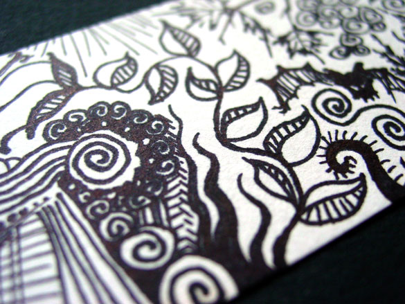 Doodle Bookmark 1, detail, by Amy Crook