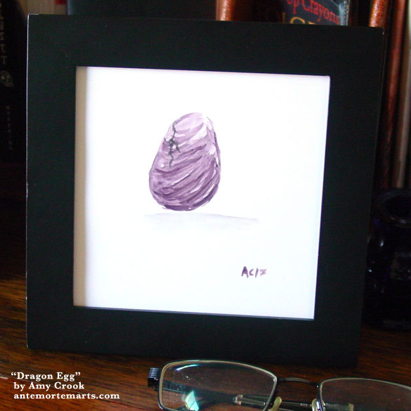 Dragon Egg, framed art by Amy Crook