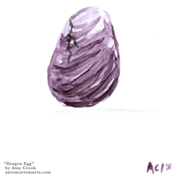 Dragon Egg, tiny art by Amy Crook