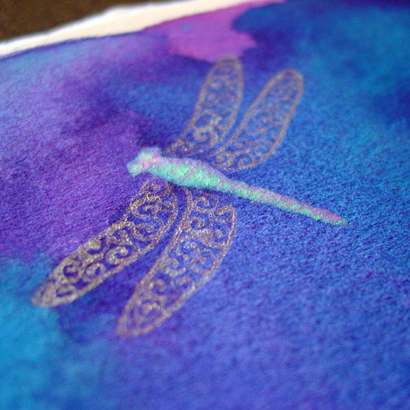 Dragonfly Trio, detail, by Amy Crook