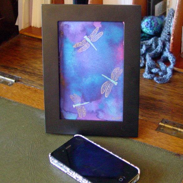 Dragonfly Trio, framed art by Amy Crook