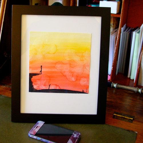 Dramatic, framed art by Amy Crook