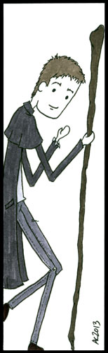 Harry Dresden bookmark by Amy Crook
