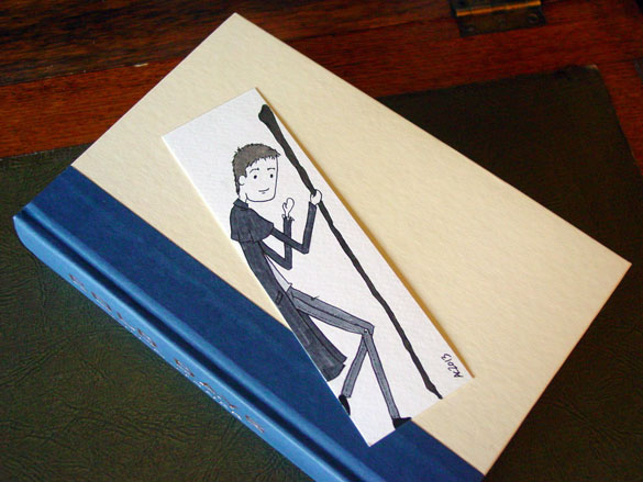 Dresden Files bookmark, with book, by Amy Crook