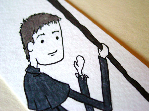 Dresden Files bookmark, detail, by Amy Crook