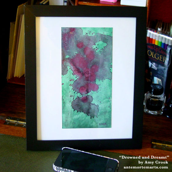 Drowned and Dreamt, framed art by Amy Crook