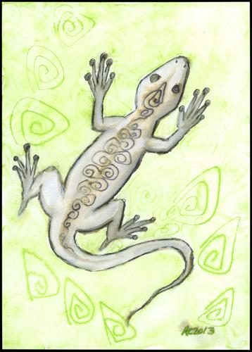 Drunk Lizard by Amy Crook