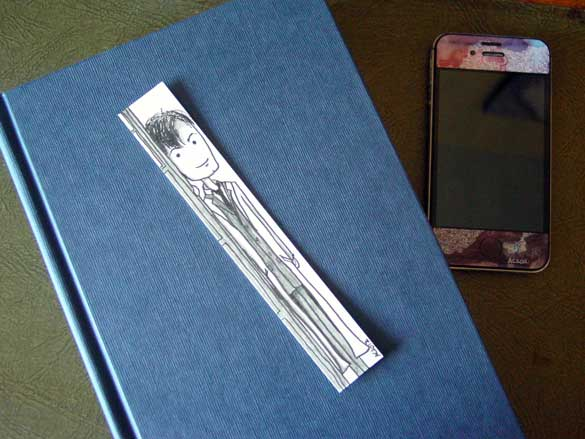 Doctor Who Bookmark 2, with book, by Amy Crook
