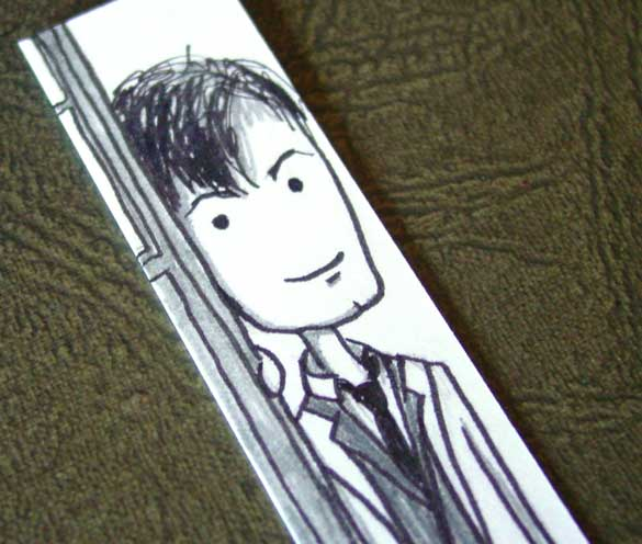 Doctor Who Bookmark 2, detail, by Amy Crook