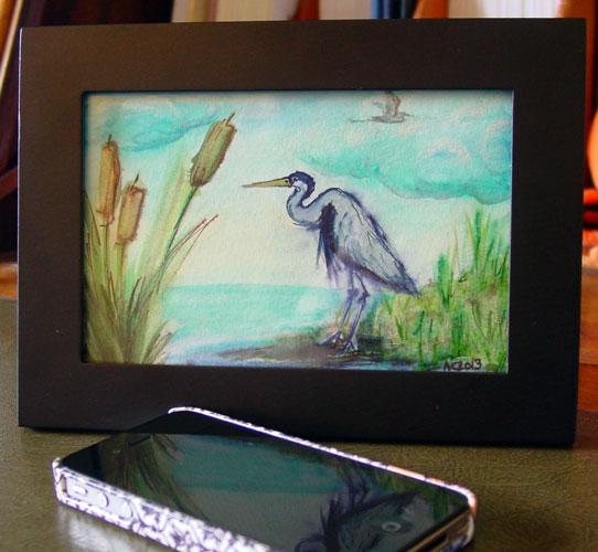 Birdwatching, framed art by Amy Crook