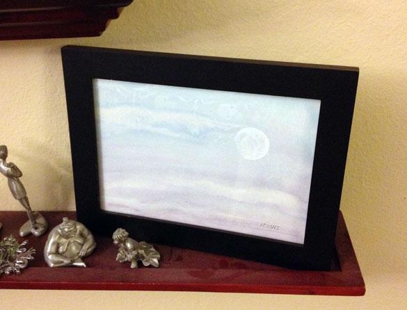 Dusk Moon, framed art by Amy Crook