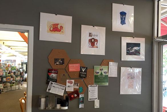 fan art at Endgame Cafe by Amy Crook