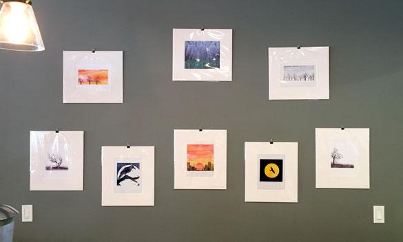 fine art prints at Endgame Cafe, prints by Amy Crook
