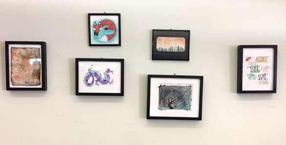 Mini-Show of art by Amy Crook at EndGame in Oakland, CA