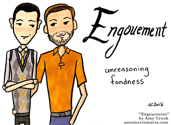 Engouement, Inception word art by Amy Crook