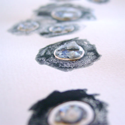 Event Horizons 1: Black, detail, by Amy Crook