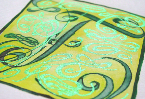 F is for Flourish, detail, by Amy Crook