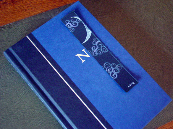 Fairytale Sky Bookmark 2, with book, by Amy Crook