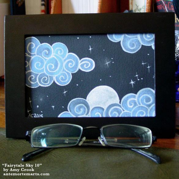 Fairytale Sky 10, framed art by Amy Crook
