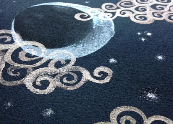 Fairytale Sky 3, detail, by Amy Crook