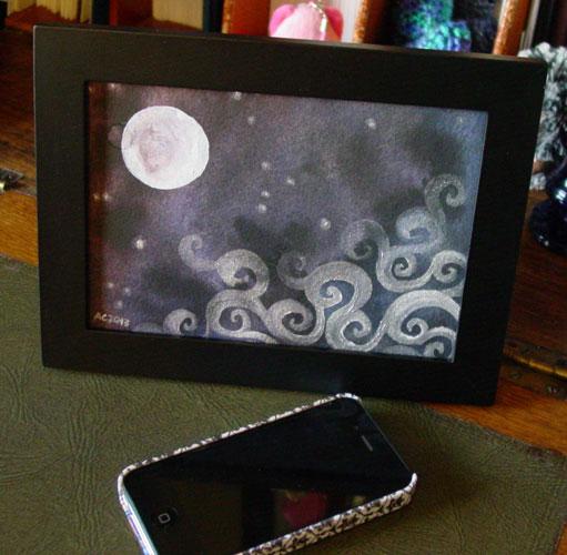 Fairytale Sky 7, framed art by Amy Crook