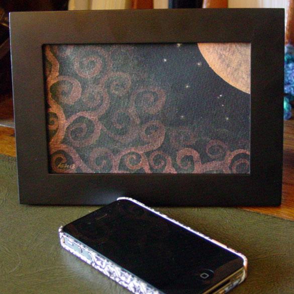 Fairytale Sky 8, framed art by Amy Crook