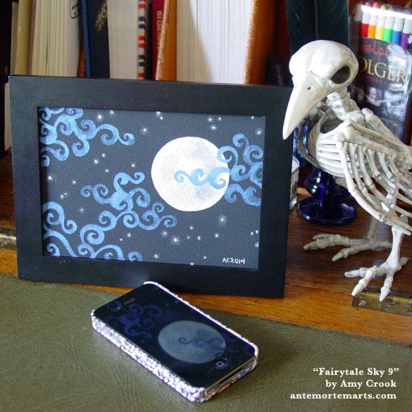 Fairytale Sky 9, framed art by Amy Crook