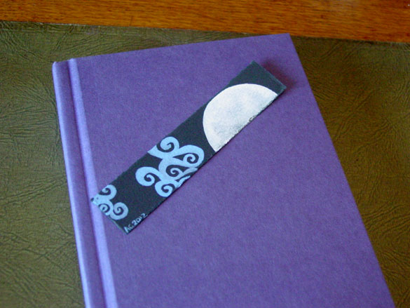 Fairytale Sky Bookmark, with book, by Amy Crook