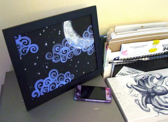 Fairytale Sky, framed art by Amy Crook
