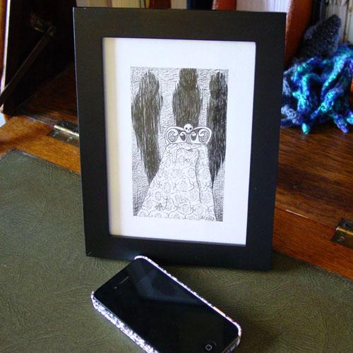A Series of Uncanny Fears: Sleep Paralysis, framed art by Amy Crook