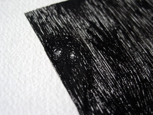A Series of Uncanny Fears: The Dark, detail, by Amy Crook