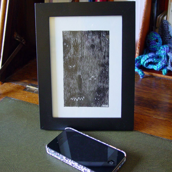 A Series of Uncanny Fears: The Dark, framed art by Amy Crook