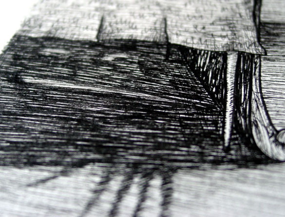 A Series of Uncanny Fears: Under the Bed, detail, by Amy Crook