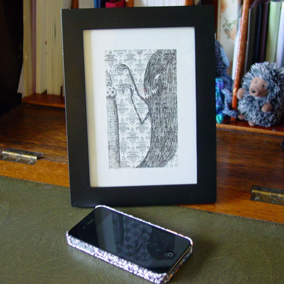 A Series of Uncanny Fears: Your Shadow, framed art by Amy Crook