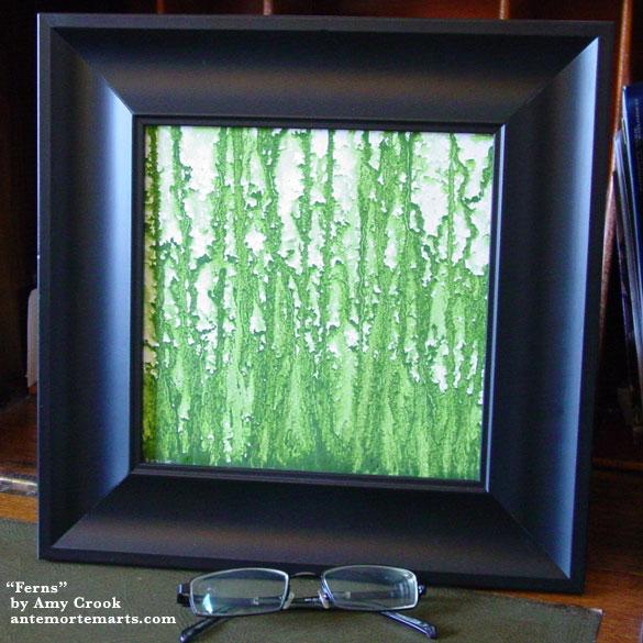 Ferns, framed art by Amy Crook