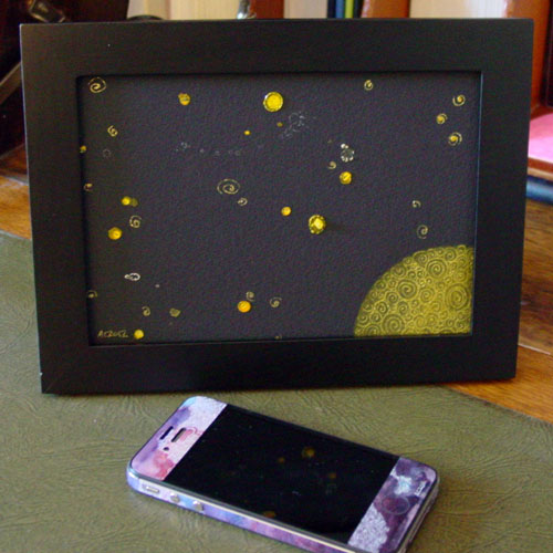 Filigree Moon 2, framed art by Amy Crook