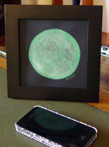 Filigree Moon 3, framed art by Amy Crook