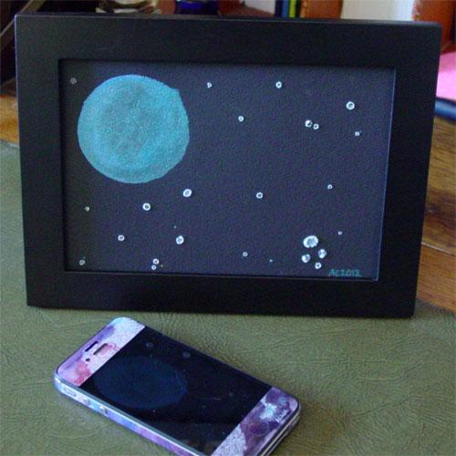 Filigree Moon, framed art by Amy Crook