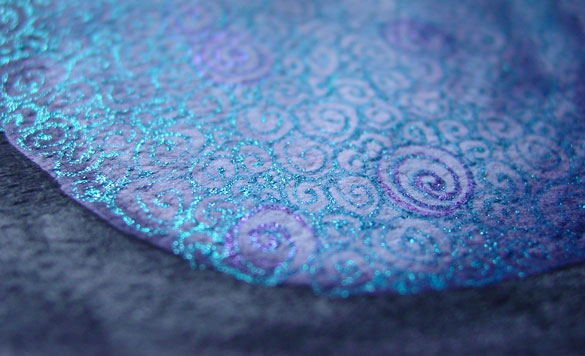 Filigree Planet 2, detail, by Amy Crook