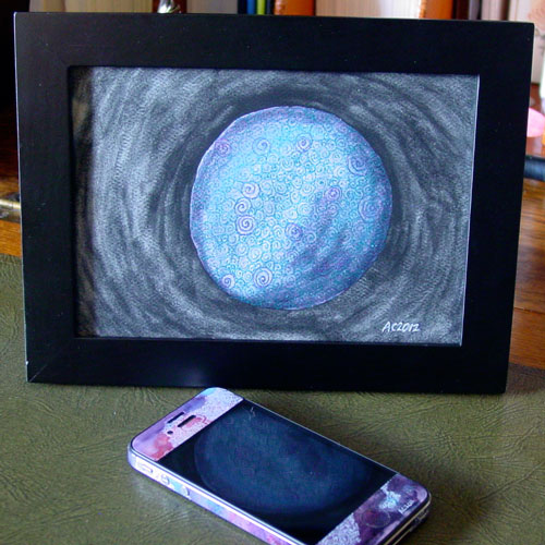 Filigree Planet 2, framed art by Amy Crook