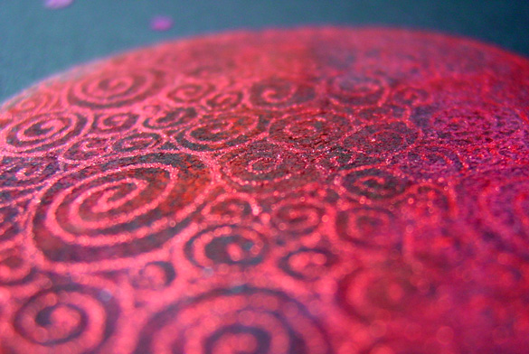 Filigree Planet 3, detail, by Amy Crook
